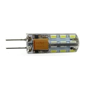 G4 AC/DC 12V 1.5W 24 SMD 3014 LEDs 2800K LED Bulb Lights Lamps (White)