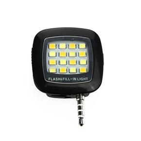 Professional 16-LED Rechargeable 3-Mode Mobile Phone Fill Light LED Light (Black)