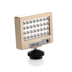 Professional Mobile Phone Camera SLR Camera Integrated Fill Light LED Light with Tripod Head (Golden)