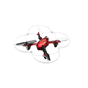 Syma X11C 2.4GHz 4CH 6-Axis Gyro 360-degree Eversion Remote Control RC Quadcopter UFO with 2.0MP HD Camera (Red)