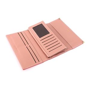 Women's Girls Soft PU Multi Card Holder Long Wallet Purse Cellphone Bag Clutch Bag (Watermelon Red)