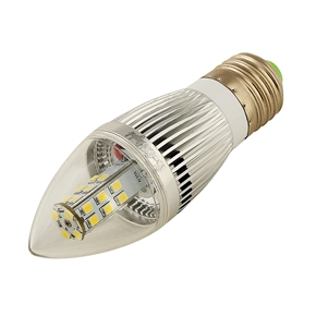 YouOKLight E14 5.5W AC 110-250V 450LM 28 SMD 2835 6500K LED Tapering Globe Candle Bulb Lamp (White)