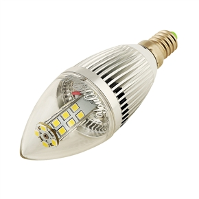 YouOKLight E14 5W AC 110-250V 450LM 28 SMD 2835 6000K LED Tapering Globe Candle Bulb Lamp (White)
