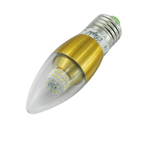 YouOKLight E14 5W AC 85-265V 500LM 50 SMD 3014 6000K Golden Tapering LED Candle Bulb Lamp (White)