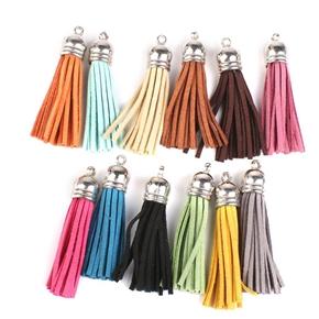 12pcs Tassel Pendant Charms for Bag / Craft / Key Chain Decoration (Random Color)