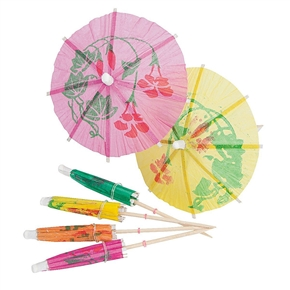 144pcs Paper Cocktail Drink Sticks Parasol Umbrella Picks (Random Color)