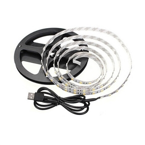 1M USB Powered Led Strip Lights 5V Waterproof Adhesive Tape Strip Light for TV/PC Background Room Party Decor (Blue Light)