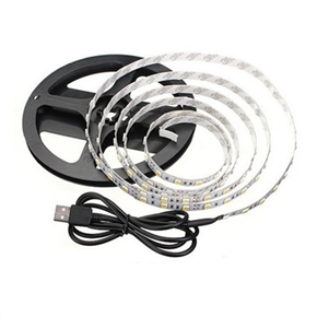 1M USB Powered Led Strip Lights 5V Waterproof Adhesive Tape Strip Light for TV/PC Background Room Party Decor (Red Light)