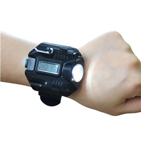 2 IN 1 Watch Light LED USB Rechargeable Waterproof Flashlight Watch for Running Mountain Climbing Camping Hiking