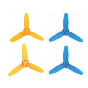 2 Pair of CW CCW Main Blades Propeller Props for Parrot Bebop Drone 3.0 Quadcopter (Yellow+Blue)