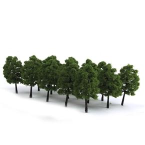 20pcs 9CM Scenery Landscape Model Tree (Dark Green)