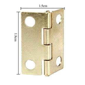 30pcs Mini Cabinet Drawer Plane Hinges Connectors (Golden)
