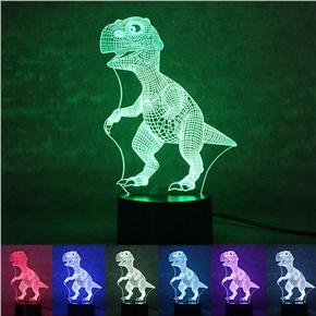 3D Lamp Visual Light Effect 7 Colors Changes Night Light (Dinosaur)