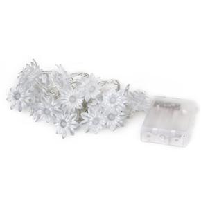 4.5V 3W 20-LED Battery Operated Flower LED String Lights (Warm White)