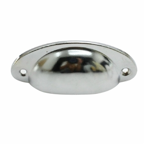 4pcs Vintage Decorative Door Drawer Pull Handle Metal Semicircle Knobs (Silver)