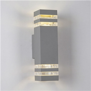 5W Wall Pack Light Rectangle Shaped LED Wall Lamp Warm Light with Double-Head (Black)