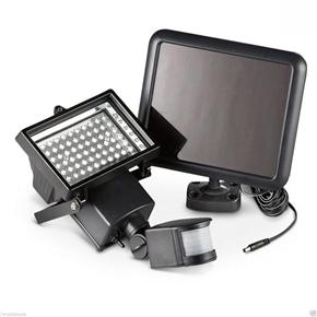 60-LED Solar PIR Motion Sensor Adjustable Floodlight Garden Wall Light Lamp (White)