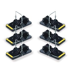 6pcs Portable Rat Traps Mouse Traps Plastic Pedal Mousetraps Easy Pest Catching Catchers