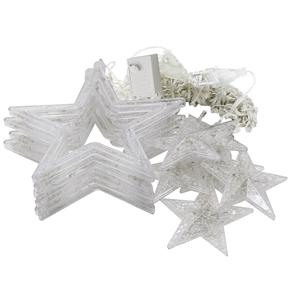 AC 220V 10W 168-LED Star String Lights with EU-plug for Garden / Room / Holiday / Christmas Decoration (Warm White)
