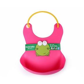 Baby Infant Waterproof Adjustable Silicone Feeding Bib (Random Color)