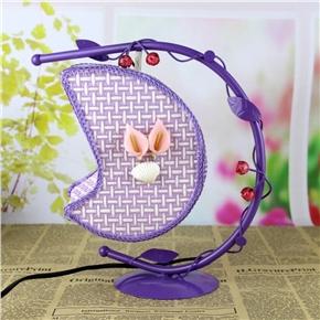 Creative Wrought Iron Desk Lamp Hanging Moon Light with US Plug (Purple)