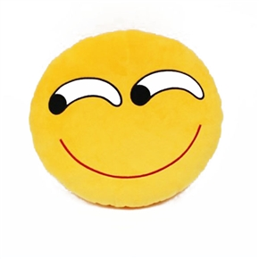 Cute Emotion Style Soft Round Plush Throw Pillow Bolster Cushion (Funny Pattern)