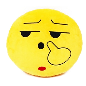 Cute Emotion Style Soft Round Plush Throw Pillow Bolster Cushion (Pick Nose)