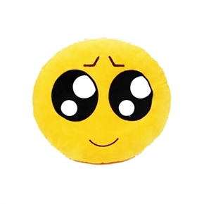 Cute Emotion Style Soft Round Plush Throw Pillow Bolster Cushion (Pitiful Pattern)