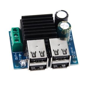 DC 9V 12V 18V 20V to 5V Step Down Power Module with 4 USB Ports