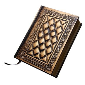 European Relief Cover Diary Notebook Journal Notepad (Bronze)