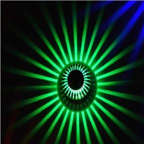 LED 3W Porch Decor Wall Lamp Aluminum Sunflower Flush Ceiling Light (Green Light)