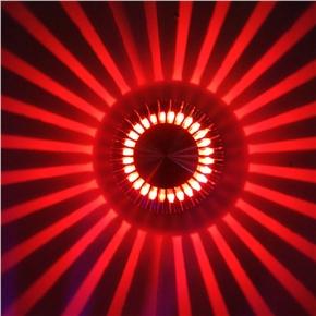 LED 3W Porch Decor Wall Lamp Aluminum Sunflower Flush Ceiling Light (Red Light)