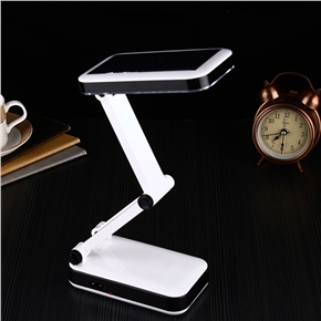 LED Desk Lamp Portable Solar Powered Foldable Lights Rechargeable Reading Lamps for Outdoor/Indoor Use (US Plug)