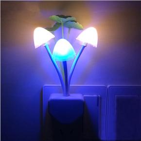 LED Wall Night Lights Mushroom Plants Style Sensor Lamp for Kids Sleeping with EU-plug