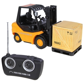 Mini RC Fork Lift Radio Remote Control Truck Car Gift Toys for Kids (Yellow)