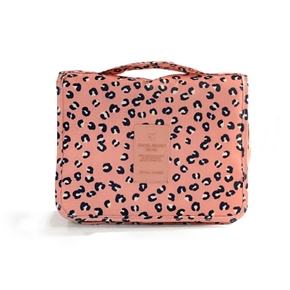 Portable Waterproof Hanging Wash Bag Toiletry Bag Travel Cosmetic Bag Pouch Organizer (Pink)