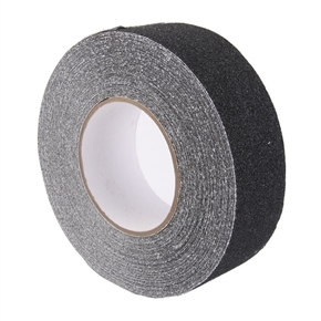 Roll of Anti Slip Tape Stickers for Stairs Decking Strips (Black)