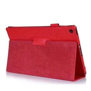 Tablet Protective Cover Slim Folding Cover Case for Sony Tablet Z (Red)