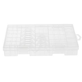 Transparent AA AAA C D 9V Hard Plastic Battery Case Holder Storage Box