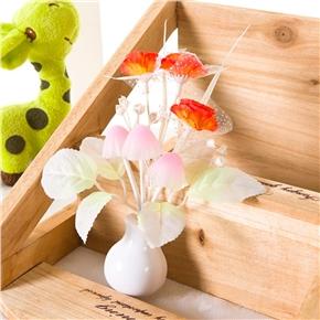 Tulip Flower Sensor LED Night Lights Plug-in Light Control Indoors Lamp for Bedroom Hallway Nursery with US Plug (Orange)