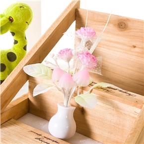 Tulip Flower Sensor LED Night Lights Plug-in Light Control Indoors Lamp for Bedroom Hallway Nursery with US Plug (Pink)