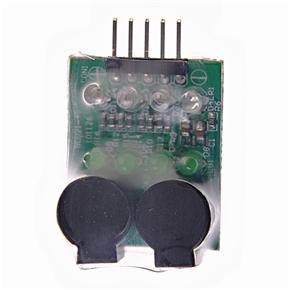 RC 2s-4s Li-Po Battery Voltage Indicator Checker Tester Low Voltage Buzzer Alarm