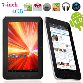 """7"""" Capacitive Touchscreen All Winner A10 1.5GHz 512M/4G 2160P Android 4.0 Ultra-Thin Tablet PC with HDMI Camera (White)"""