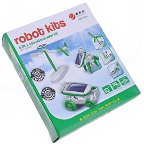 6-in-1 Educational Solar Robot Kit (Green)