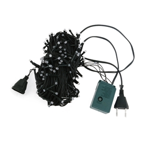 AC 220V 12W 20M IP44 200-LED String Lights with EU-plug for Garden / Room / Holiday / Christmas Decoration (Warm White)