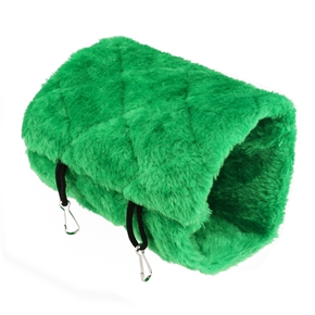 Bird Animal Plush Snuggle Hammock Hanging Snuggle Cave Happy Hut Hideaway - Size L (Green)