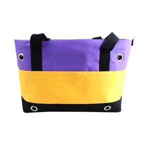 Durable Striped Oxford Cloth Handbag Hand Bag Pet Dog Cat Carrier Bag (Purple,Yellow,Black)