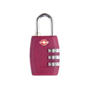 TSA-335 TSA Approved Security Luggage Padlock 3-Digit Combination Password Lock Padlock (Rose Red)