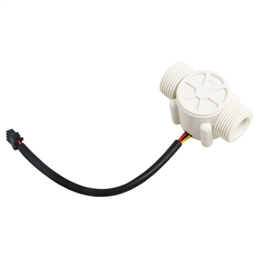 YF-S403 3/4 Inch External Thread 1-60L/min Water Flow Sensor Flowmeter Water Control (White)