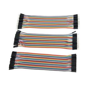 Foxnovo 3pcs 20cm Multicolored 40-pin Male to Female / Male to Male / Female to Female Breadboard Jumper Wires Ribbon Cables